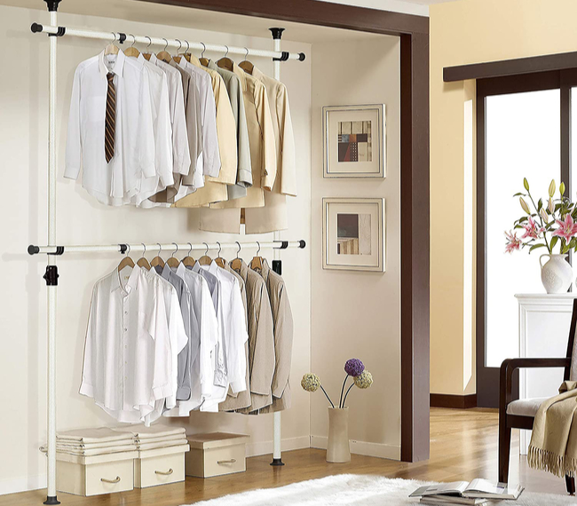 Prince Hanger 1-Touch Adjustable Clothes Rack